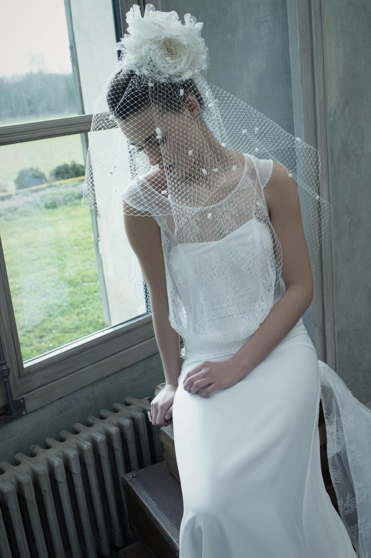 Ensemble Barbizon - Robe de mariée simple raffinée - Cymbeline mariage