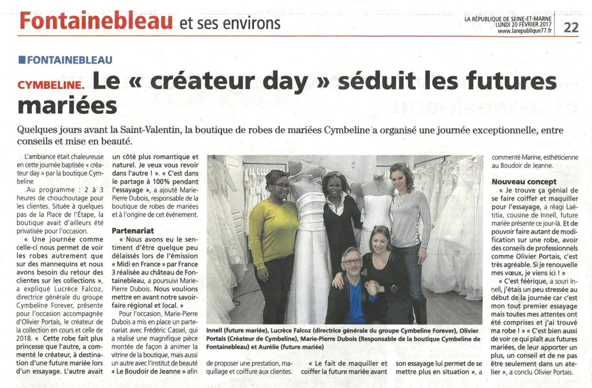 Designer day Cymbeline Fontainebleau