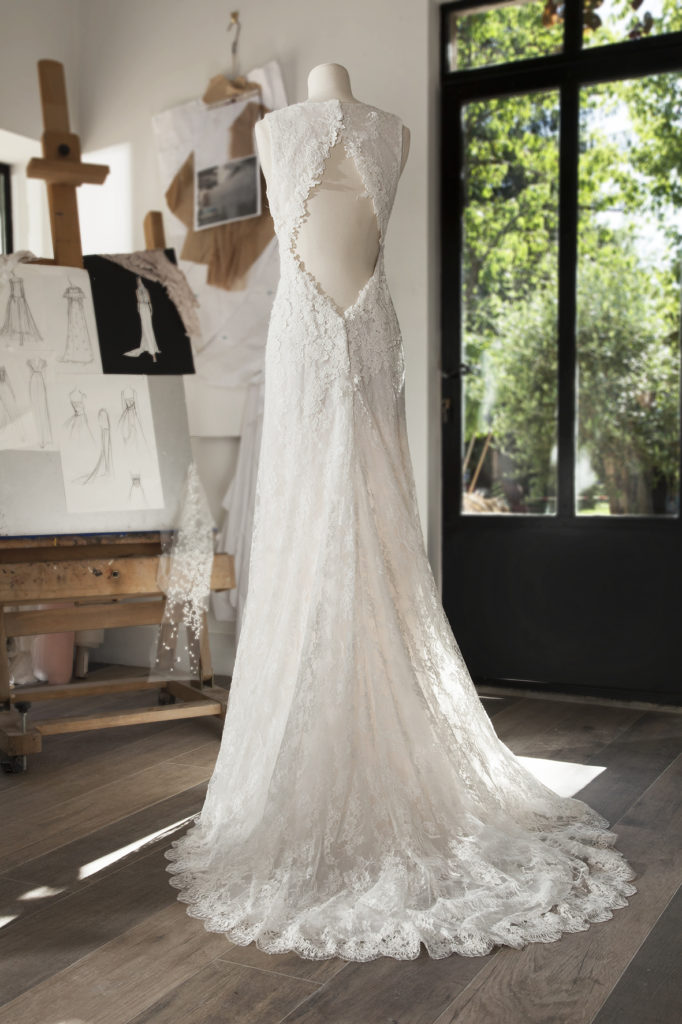 BIBLOS - Robe de mariée en dentelle de Calais - Cymbeline Collection 2018