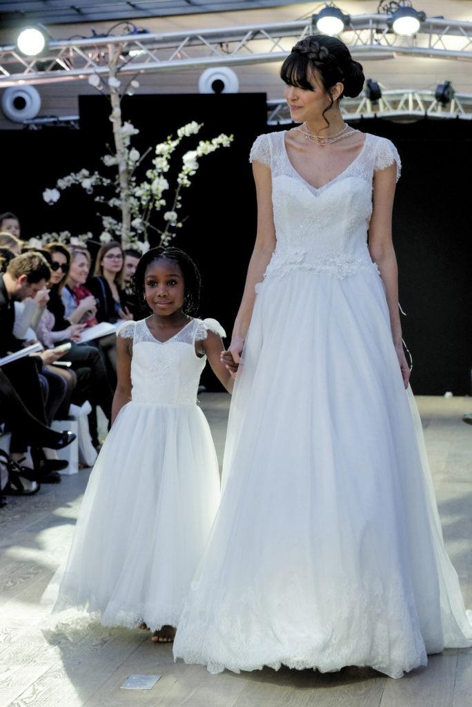 Robe de mariage enfant - robe petite fille mariage - robe cortege fille - robe de ceremonie enfant - Compote Cymbeline