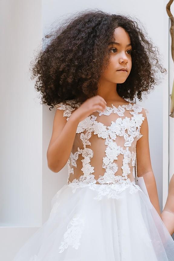 Robe mariage enfant - robe mariage enfant - robe cortege fille - robe ceremonie enfant - Coulis Cymbeline
