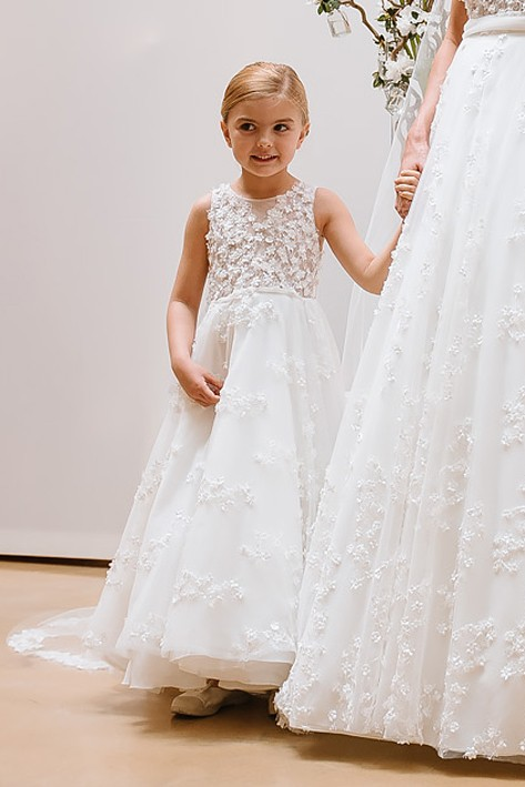 Robe mariage enfant - Robe de ceremonie fille - Robe cortège enfant - Robe fille cérémonie - Crème Cymbeline