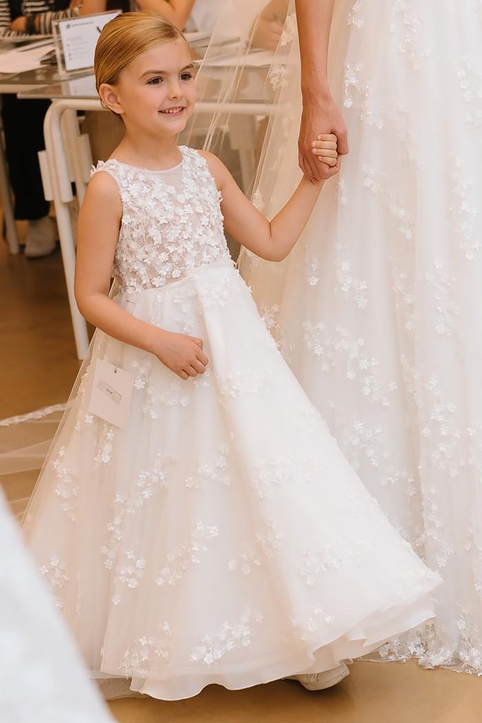 Robe de mariage enfant - robe petite fille mariage - robe cortege fille - robe de ceremonie enfant - Crème Cymbeline