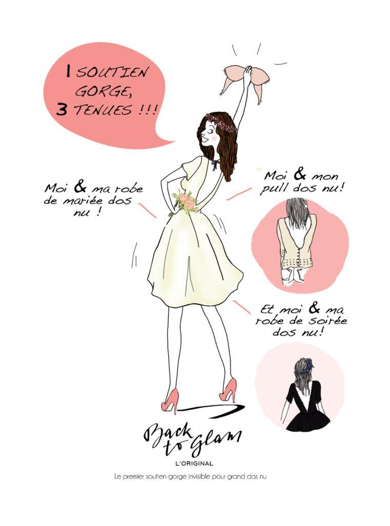 Illustration soutien-gorge dos nus